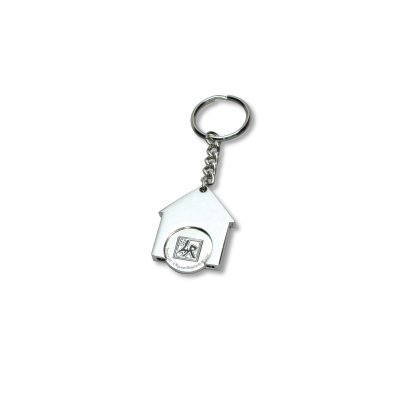 House Shaped Trolley Coin Keyring